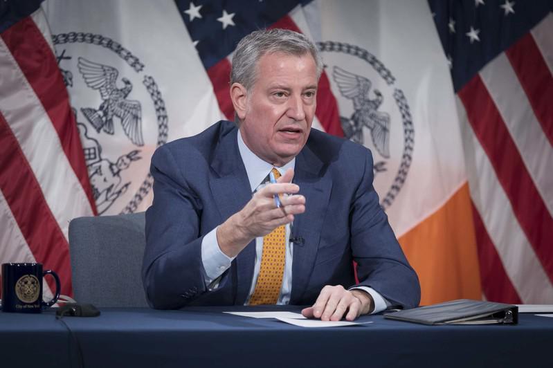 白思豪表示,聯邦政府加購疫苗將每周給紐約市增加1萬7000劑疫苗供應。(市長辦公...