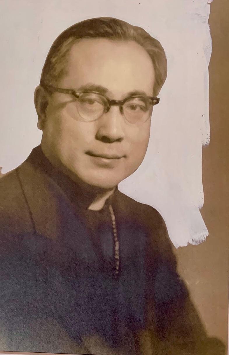 上世紀50年代于斌總主教在美國的英姿。(于德蘭提供)