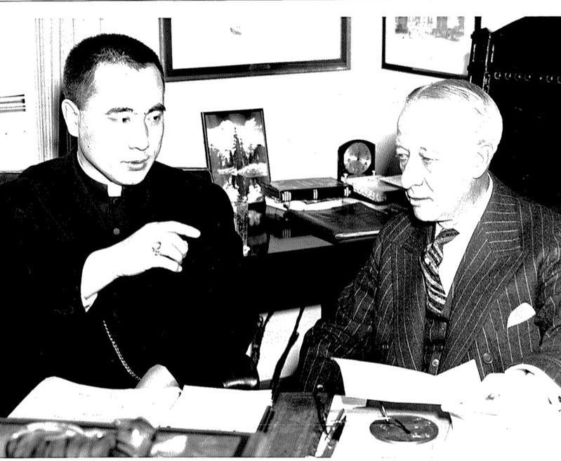 1938年,于斌主教訪問美國,和當時的紐約州長Alfred Emanuel Sm...