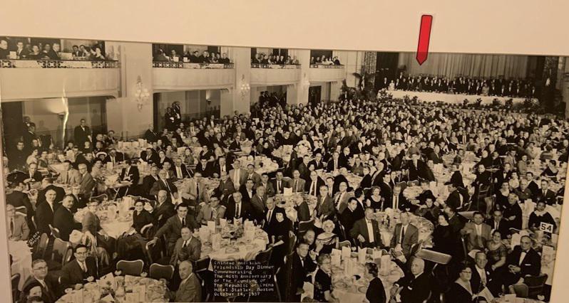1957年10月15日,于斌總主教在波士頓舉辦慶祝中華民國建國46年國慶晚宴,諸...