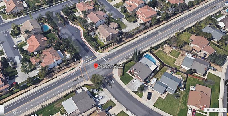 事發路口附近。(谷歌地圖)