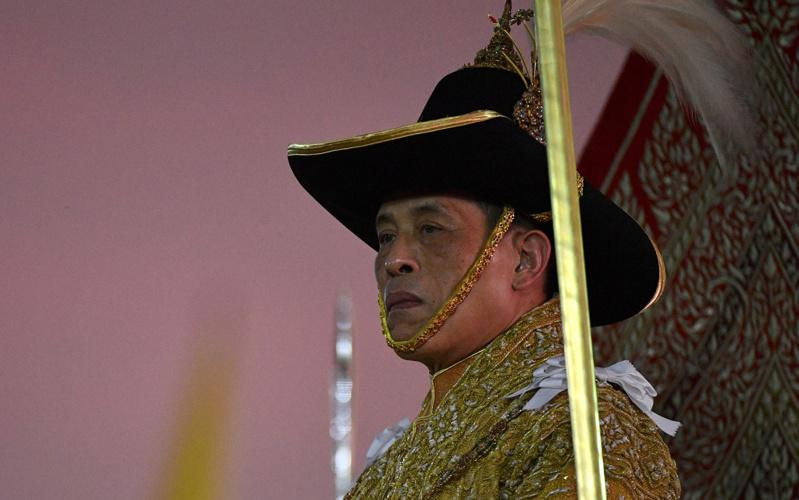 泰王瓦吉拉隆功目前在德国避疫,图为他去年12月出席王室活动。路透