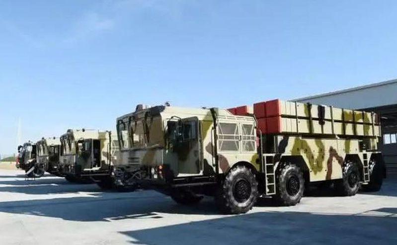 亚塞拜然接收的中国、白俄罗斯联合研制「波罗乃兹」多管制导火箭炮系统。(取材自环球...
