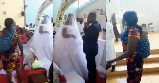 当新郎新娘正在聆听神父的演说,背着婴儿的女子冲进会场大喊「这场婚礼不能举行」。(...