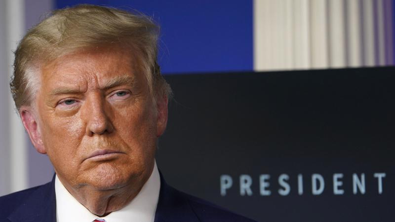 美国总统川普在长约5分多钟的影片中,未提到自己再度被弹劾一事。 (美联社)