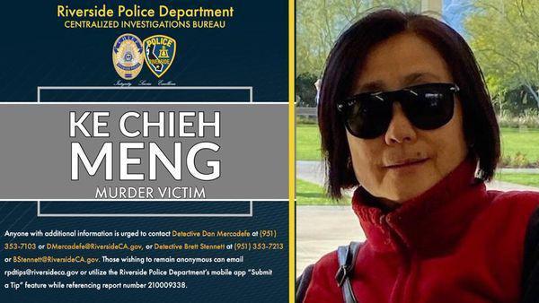 河濱縣被刺死的華裔孟姓婦女Ke Chieh Meng。(河濱縣警察局提供)