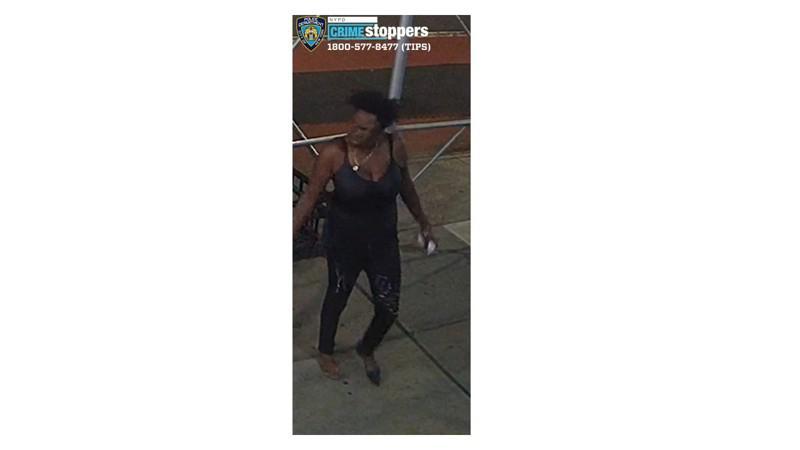 袭击华女的非洲裔女子。 (市警提供)