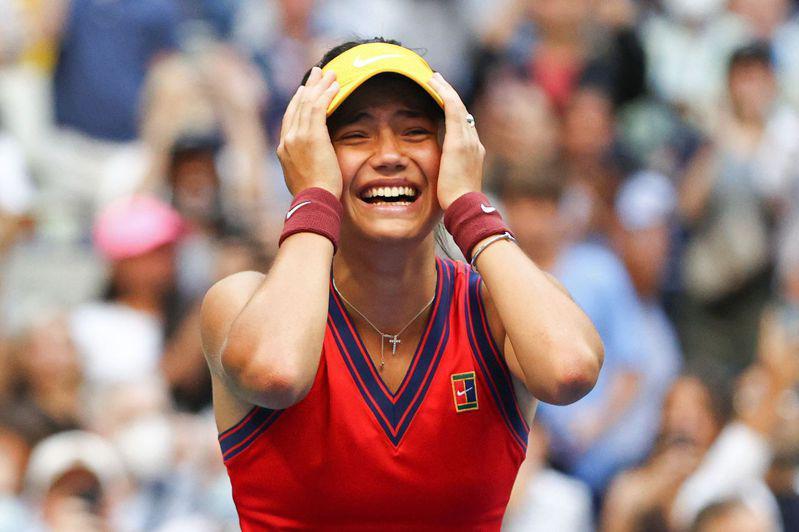 瑞度卡努在美國網球公開賽贏得后冠那一刻。(Getty Images)