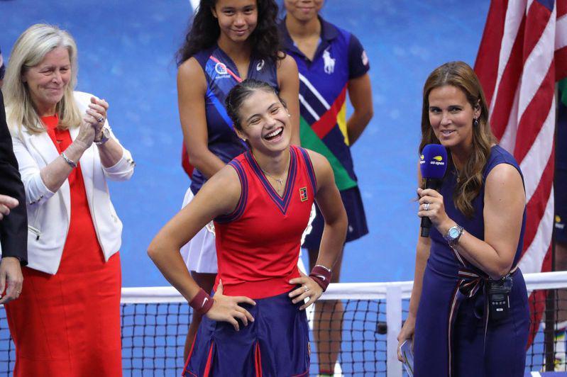 瑞度卡努在美國網球公開賽贏得后冠受訪。(Getty Images)