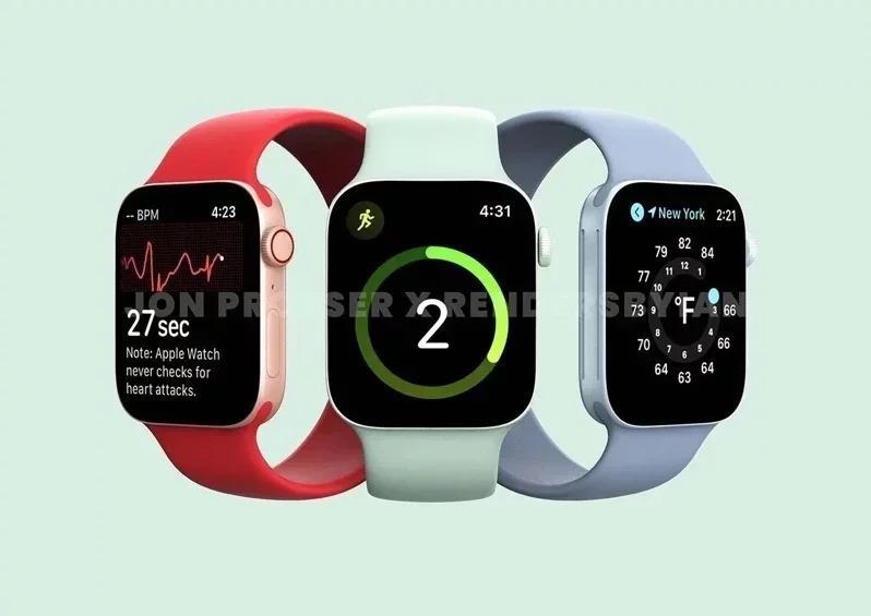 遭外流的Apple Watch series 7照片。(取材自pinkvilla...
